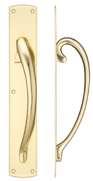 Fulton & Bray FB118 Large Pull Handle- Polished Brass